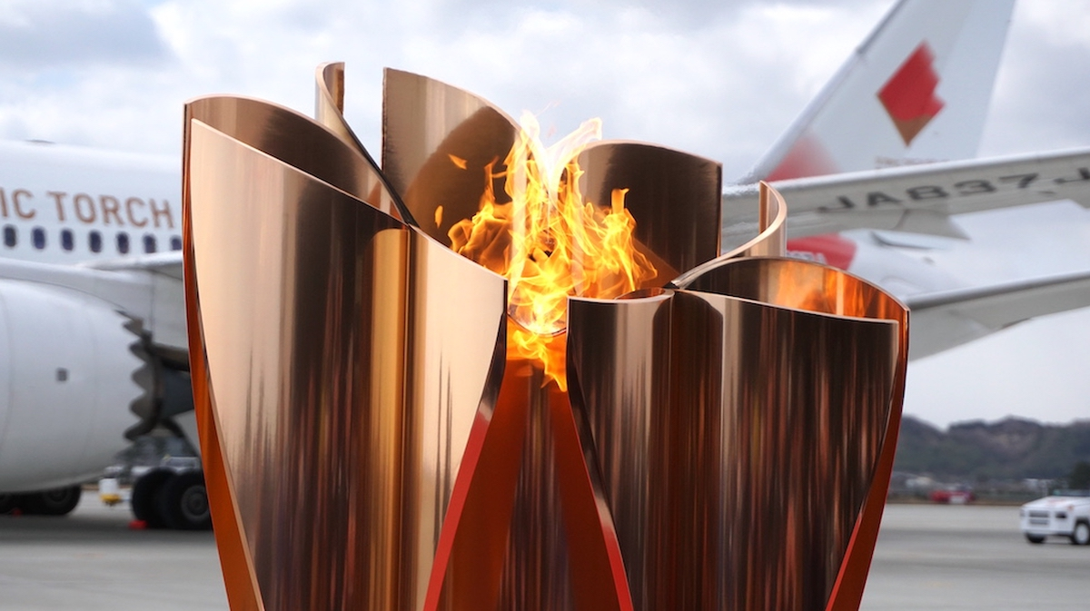 Olympic flame, japan, tokyo 2020