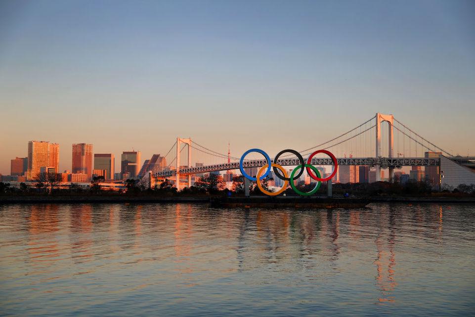 tokyo 2020, olympic rings, Odaiba Marine Park